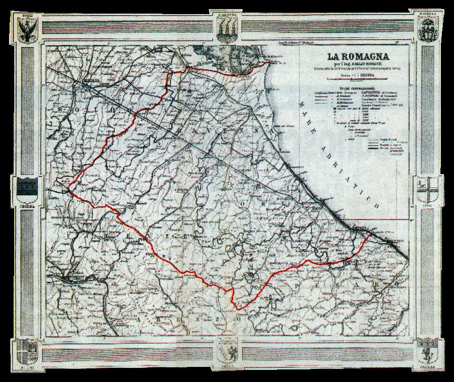 Cartina Italia Regioni E Confini.La Romagna Nome E Confini